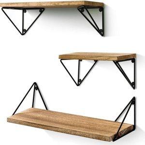 New Rustic Wood Wall Shelves